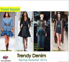 Denim #Fashion Trend for Spring Summer 2014. #spring2014 #trends #denim #jeans