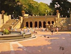 Bethesda Terrace Central Park NYC by Brian Blood Oil ~ 11 x 14