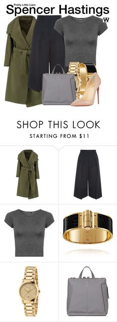 """""""Pretty Little Liars"""" by wearwhatyouwatch ❤ liked on Polyvore featuring Erdem, WearAll, Gucci, Fiorelli, Christian Louboutin, television and wearwhatyouwatch"""