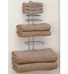 Hotel Style Towel Rack... perfect storage solution for the bathroom