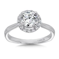 Caro 74 - Classic Elegance Collection Halo Engagement Ring with Side Stones in White Gold with Platinum Head tw. Classic Engagement Rings, Engagement Ring Styles, Diamond Engagement Rings, Halo Engagement, Glam Rock, Engagement Ring Jewelers, Classic Elegance, Boho, Fashion Rings