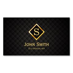 307 best dj business cards images on pinterest business card dj music gold diamond monogram deejay business card cheaphphosting Choice Image