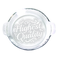 Pie Plate - 9 in. w/handles  - Highest Quality