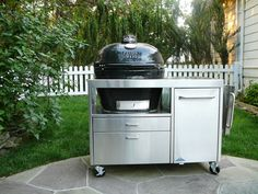 Nice Primo Stainless Table, Ceramic Cooker, Big Green Egg Table, Outdoor Spaces, Outdoor Decor, Bbq, Nice, Kitchen, Home Decor