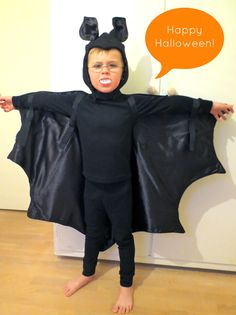 I've actually sewn something this week! Halloween is fast approaching, and this year, A ordered a bat costume for a Halloween party on ...