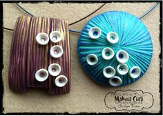 Makin's Clay® Blog: Cup Flower Pendants by Patricia Roberts-Thompson