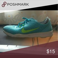 Women's tennis shoes Blue and green Nike c tennis shoes. Size 6.5 Nike Shoes Sneakers