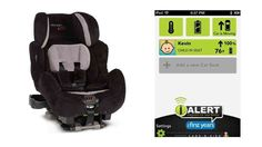 iAlert is the first car seat to integrate tech and a smartphone app to monitor safety issues and report on the well-being of the passenger sitting in it.