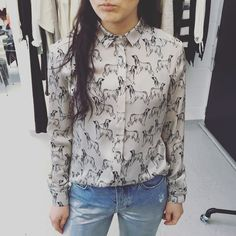 Lovely Anna with @stormandmarie Nadia Shirt  #stormandmarie #somewhereagency #aw16 #danishfashion #shirt #print