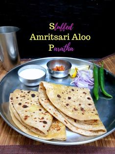 How to make Amritsari Style stuffed Aloo Paratha Flour Recipes, Meat Recipes, Indian Food Recipes, Ethnic Recipes, Indian Breakfast, Breakfast Dishes, East Indian Food, Good Food, Yummy Food