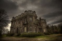 abandoned manor house. I know it's spooky, but I LOVE it!
