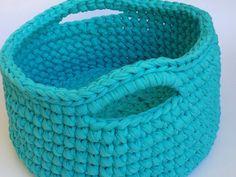 Crochet round big storage basket by MalkishuArt on Etsy, $65.00