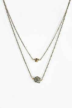 Stone High/Low Necklace - Urban Outfitters