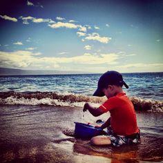 Sand play on Ka'anapali Beach Maui