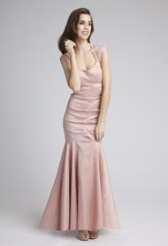 Taffeta and Lace Dress- Group USA