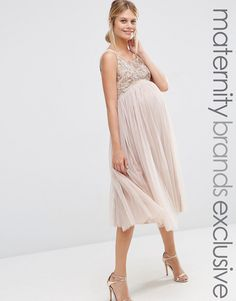 Maya+Maternity+Cami+Strap+Mini+Dress+With+Tulle+Skirt+And+Embellishment