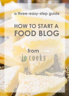 How to Start a Food Blog - a three-easy-step guide to help you start your food blog. Learn how to register your domain, signup with Bluehost and install wordpress. All in three easy steps!