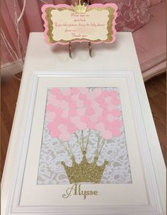 I Like This For Guest To Sign But I Dont Have Room To Hang Another Picture  · Birthday Guest BooksGold Baby ShowersGuest ...