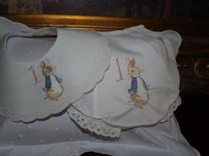 A personal favorite from my Etsy shop https://www.etsy.com/listing/503330024/heirloom-beatrix-potter-peter-rabbit