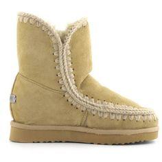 Mou Eskimo Wedge Short Boots Tan - MOU