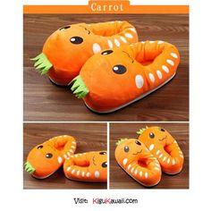 a4c3595a8392 This is so cute Carrot Slippers ♥ Follow Kigu Kawaii for more cute stuff!   kigukawaii  cute  kawaii  adorable  Carrot  slippers  accesories  fashion  ...