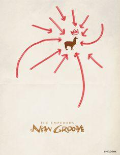 The Emperor's New Groove (2000) - Minimal Movie Poster by Alejandro Cisneros #minimalmovieposters #alternativemovieposters #alejandrocisneros