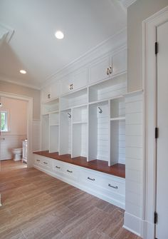 Mud Room connects to Bathroom. House Planning. Floor plan. Layout. Blue Water Home Builders.