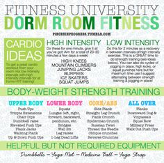 Stay Fit Without Leaving Your Dorm Room!