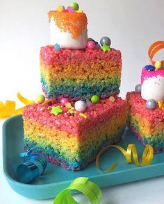 Rainbow Rice Krispie