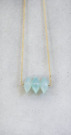 Aqua Blue Spike Necklace by shopkei on Etsy, $45.00