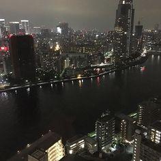 Instagram【kaorichan0210】さんの写真をピンしています。 《Night view from my friend's condominium. How nice is this. 友達のコンドからの眺め。やばー #condominium #nightview #tokyo #japan #夜景 #綺麗 #勝どき #kachidoki #ohmy #すごい》