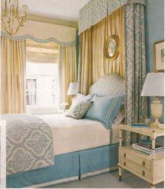 DreamDecorDesign.com <3 Cream & Blue Bedroom