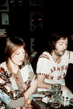Eric Clapton and Pattie Boyd at home in Ewhurst, Surrey
