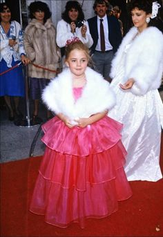 Drew Barrymore at the age of 8 at the Academy Awards - 1983