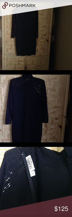 Classy classy St. John wool knit dress. Excellent condition , no holes or pules. Just worn twice & lost a few glitter sparkles. Great buy‼️ sparkles on both shoulders & wrists. St. John Dresses Midi