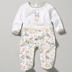 Buy John Lewis Baby Farmyard Animal Sleepsuit Online at johnlewis.com