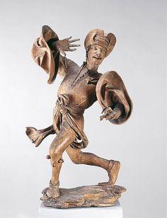 1480 Bavaria: der 'Prophet' (Prophet) Morris Dancer with ribboned cap by Erasmus Grasser (Munich)