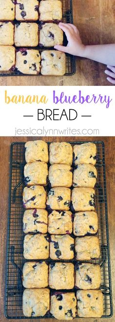 Banana Blueberry Bread - Jessica Lynn Writes banana blueberry bread made in the pampered chef brownie pan Donut Pan Recipe, Donut Recipes, Brownie Recipes, Baking Recipes, Dessert Recipes, Gourmet Desserts, Plated Desserts, Trifle Desserts, Bread Recipes