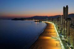 Playa de Levante al anochecer. Spain.