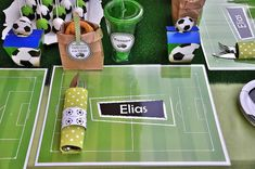Table at a Soccer Party #soccer #partytable