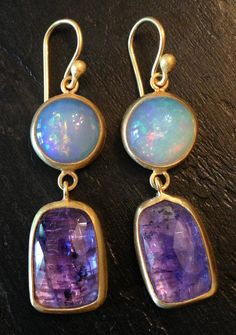 Opal and Tanzanite w/22K gold from Stephanie Albertson Jewelry
