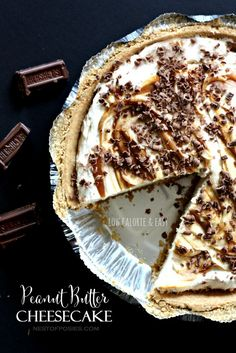 Low Calorie Peanut Butter Cheesecake - whip it up in 10 minutes.  Let it chill & serve.  So easy.