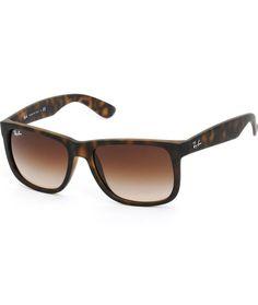 Ray-Ban Justin Havana Tortoise Shell Sunglasses-wayfarer Lunettes De Soleil  Homme, Haute 2af02e2d354e