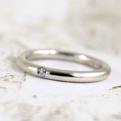 Diamante - plata diamante banda - hombres o mujeres joyería - anillos de boda - anillos de compromiso - anillo de apilamiento on Etsy, US$225,00