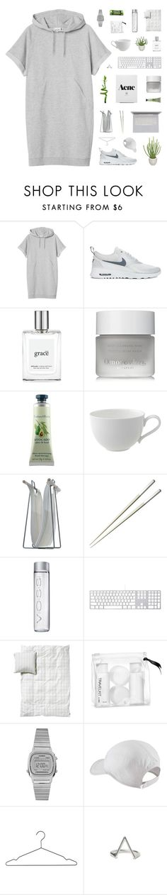 """Feel Good Inc."" by discxnnect-ed ❤ liked on Polyvore featuring Monki, NIKE, PLANT, philosophy, Omorovicza, Crabtree & Evelyn, Villeroy & Boch, Woodnotes, Christofle and Wrigley's"