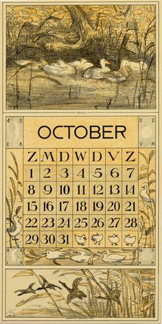 Theodoor van Hoytema, calendar 1916 October