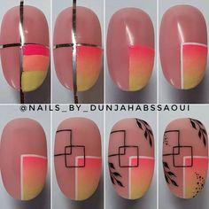 Nail Art Hacks, Nail Art Diy, Diy Nails, Cute Nails, Minimalist Nails, Nail Art Designs Videos, Nail Designs, Nail Swag, Nail Drawing