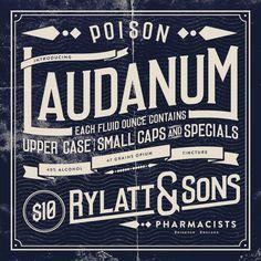 Inspiration Hut - Laudanum - Vintage Font