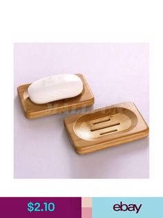 Natural Bamboo Wood Bathroom Shower Soap Tray Dish Storage Holder Plate New Wood Soap Dish, Soap Dishes, Shower Soap, Bath Shower, Dish Storage, Plates For Sale, Soap Holder, Wood Bathroom, Tray