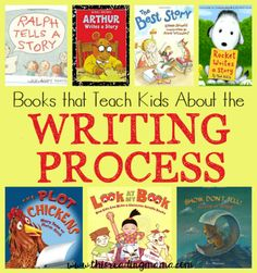 Books that Teach Kids About the Writing Process - a book list from This Reading Mama
